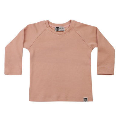 Camiseta Infantil de Inverno Manga Longa Raglan Liso Collection Mystic Rose