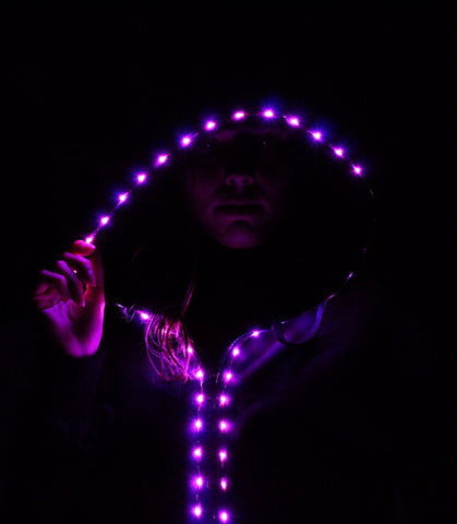 LED Hoodie - 8-Mode Light Up LED Hoodies