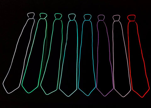 Light Up Necktie - Twisted Glow