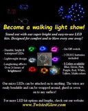 LED Kit for Clothes - Rechargeable, 4-mode DIY LED kit, Make an LED Costume in minutes!