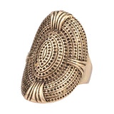 Oval Vintage Ring - 8 / Antique Gold Plated - trendiU - 2