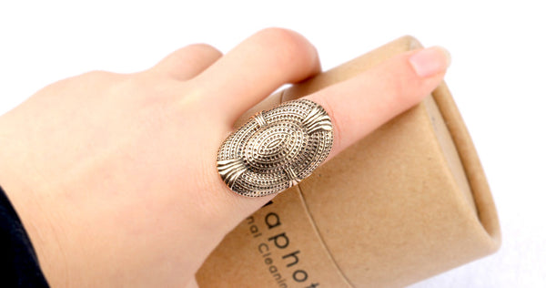 Oval Vintage Ring - 7 / Antique Gold Plated - trendiU - 1
