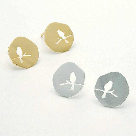 Bird On A Branch Stud Earrings -  - trendiU - 1