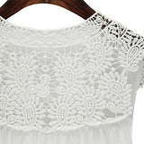 Plus-Size Embroidered Sleeveless Chiffon V-neck Top -  - trendiU - 3
