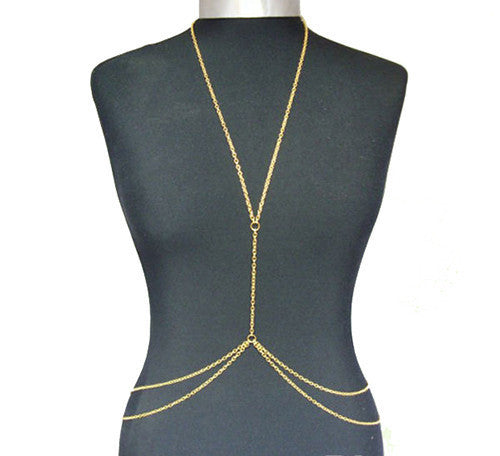 Gold Necklace Belly Chain - Gold - trendiU - 1