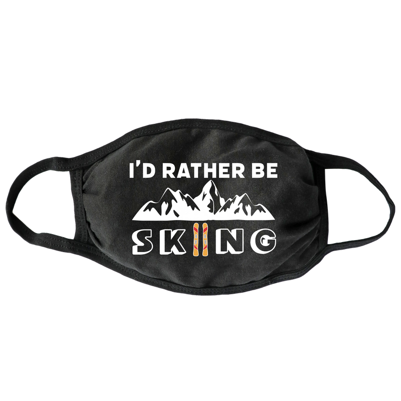 Rather Be Skiing Face Mask