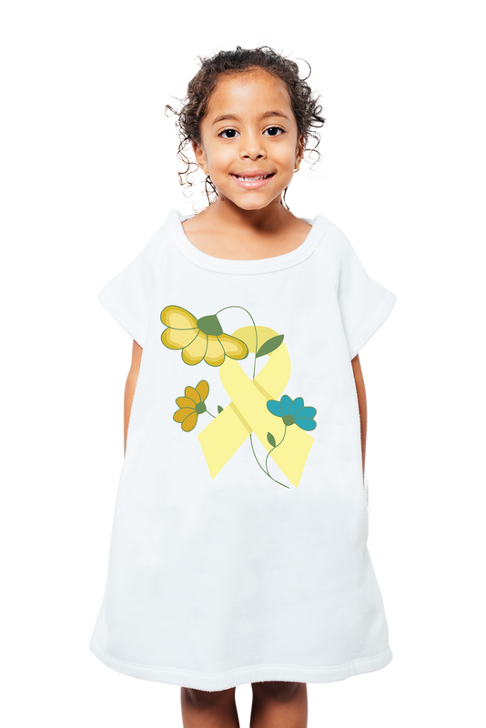 Floral Ribbon Kids Gown