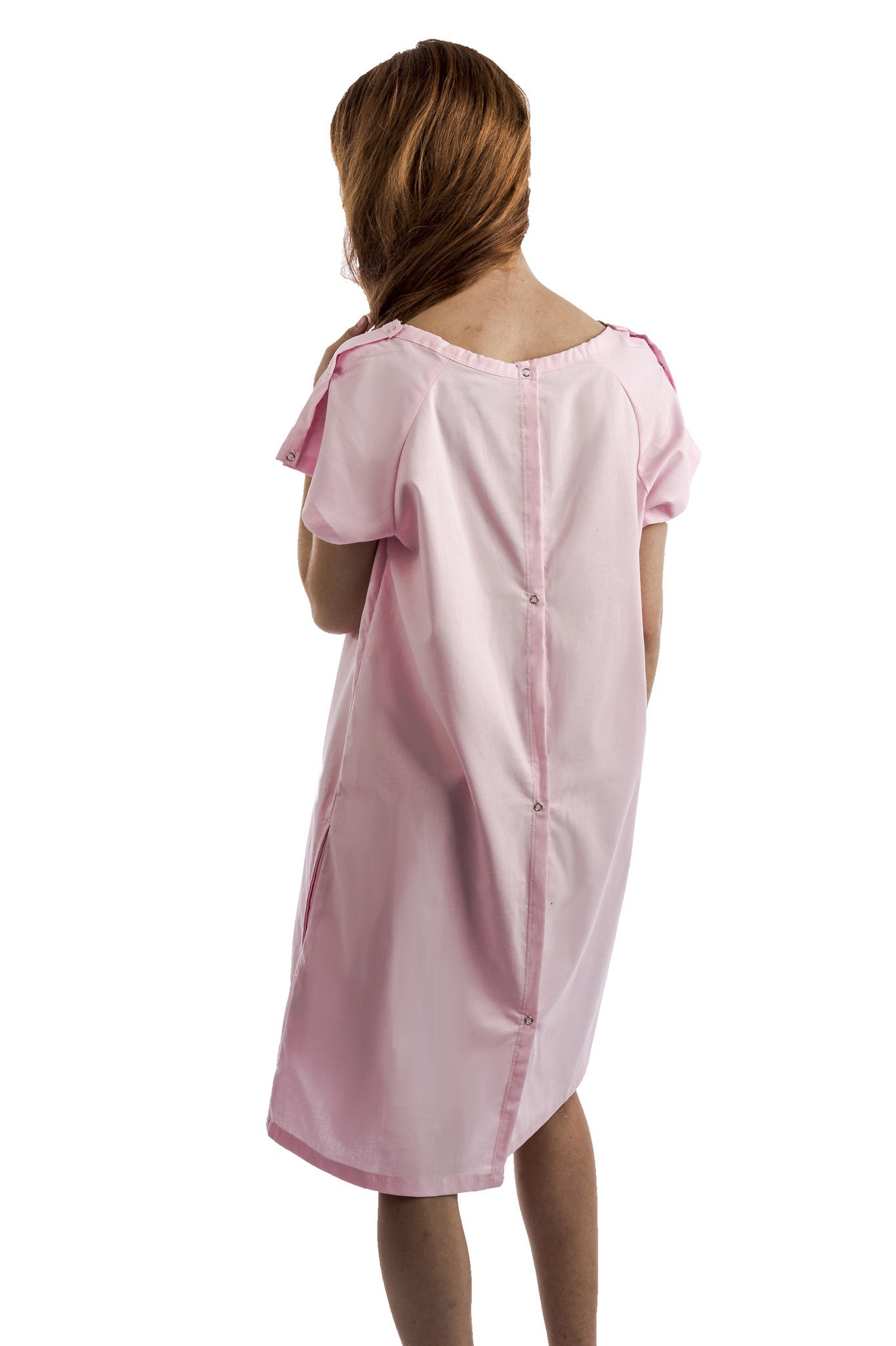 funny hospital gift for women pink gown from behind