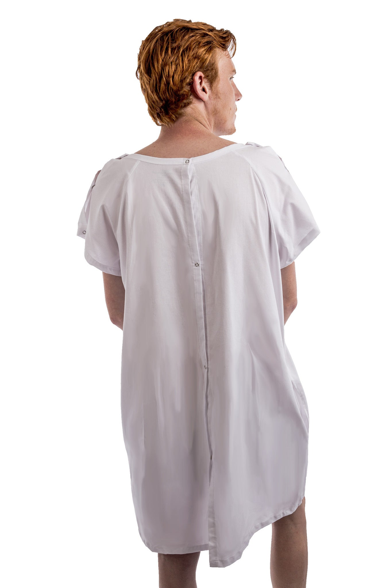 cool hospital gown for men white