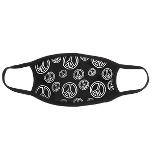Peace Sign (Black) Face Mask