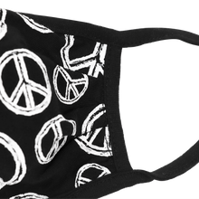 Load image into Gallery viewer, Peace Sign (Black) Face Mask
