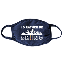 Load image into Gallery viewer, Rather Be Skiing (Navy) Face Mask