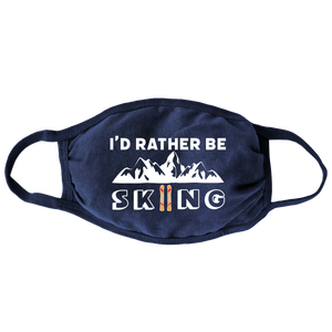 Rather Be Skiing (Navy) Face Mask