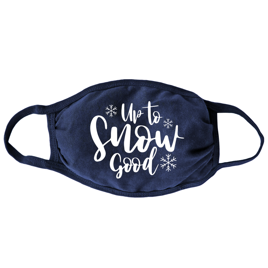 Up To Snow Good (Navy) Face Mask