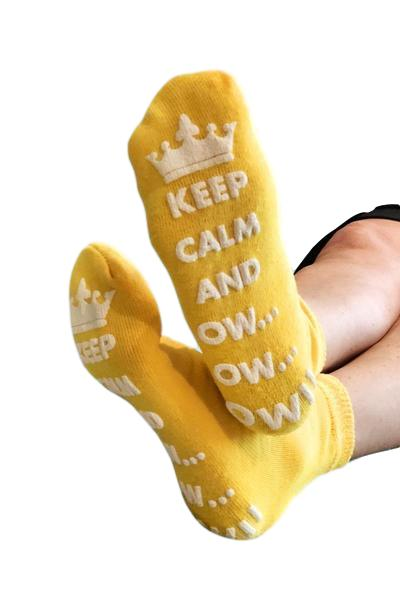 Keep Calm and Ow Socks (Yellow)