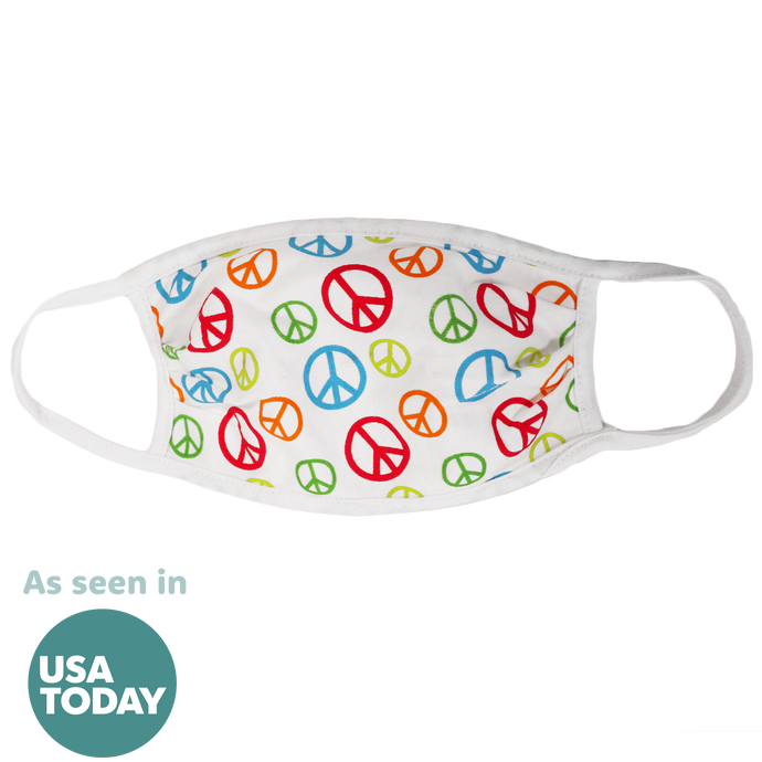 Peace Sign (White) Face Mask