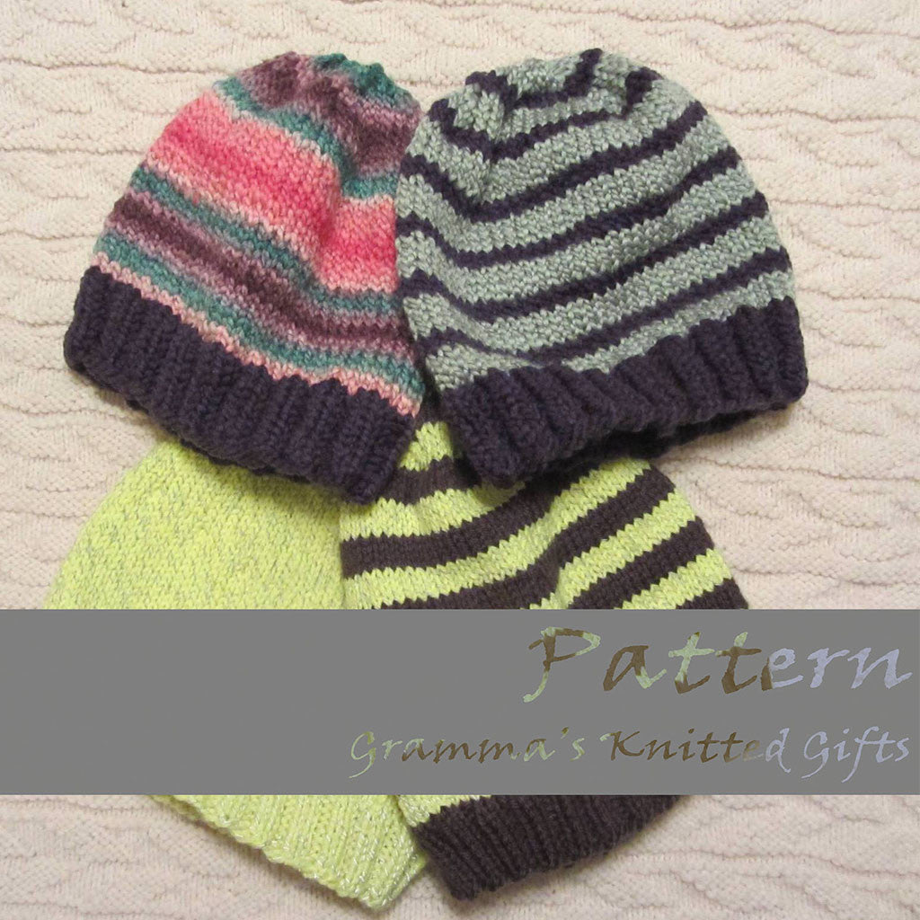 Adult Basic Knit Beanie Pattern