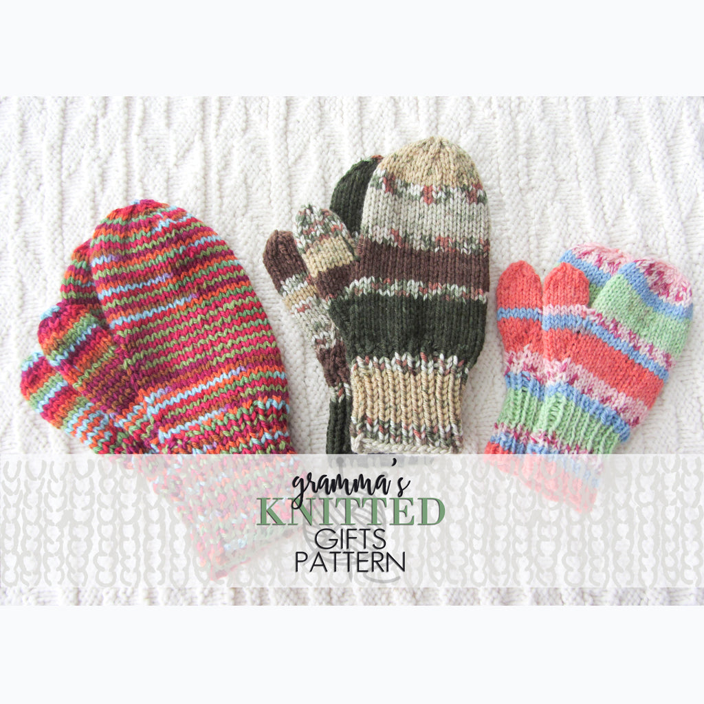 Classic Kids Mittens Knitting Pattern