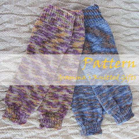Baby Leggings Knitting Pattern