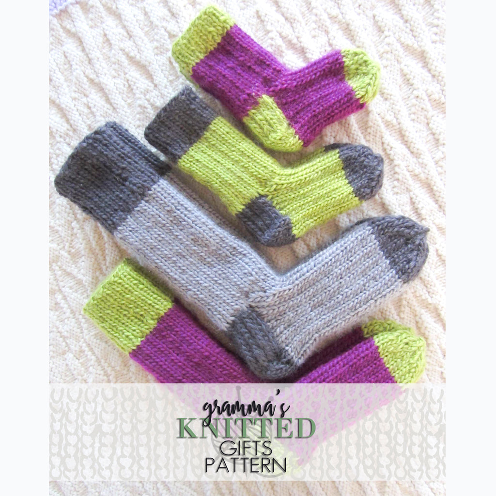 Kids Two-tone Sock Pattern