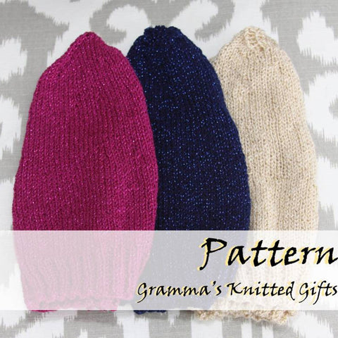 Womens / Teens Sparkle Knit Hat Pattern