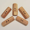 Subabul wood 2 inch Rectangular Toggle Button