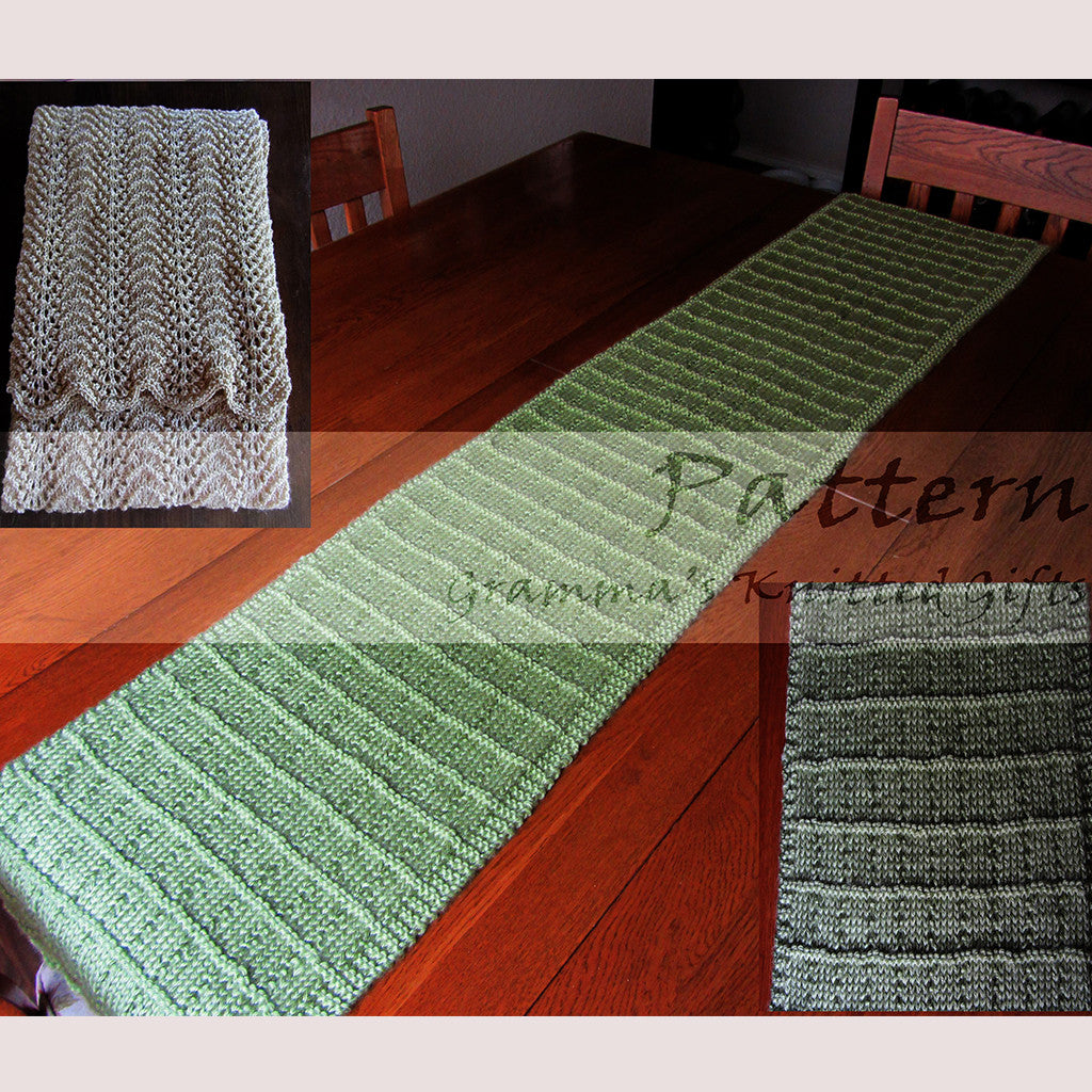 Table Runners Knitting Patterns