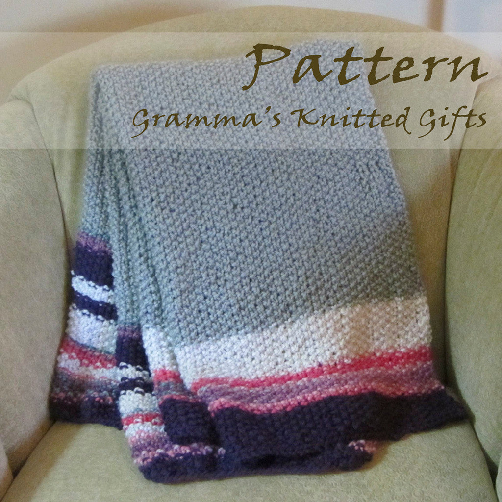 Baby Throw Blanket Knitting Pattern