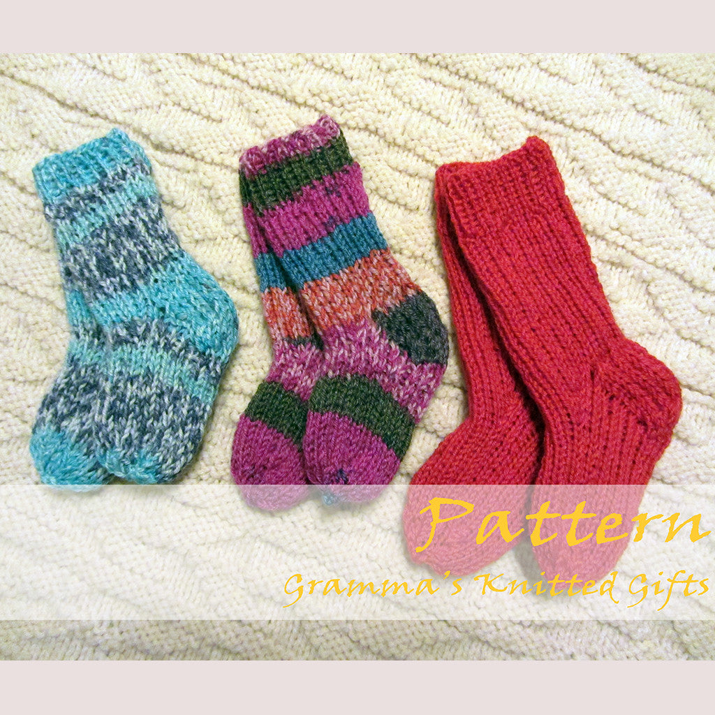 Wee Ones Socks Knitting Pattern