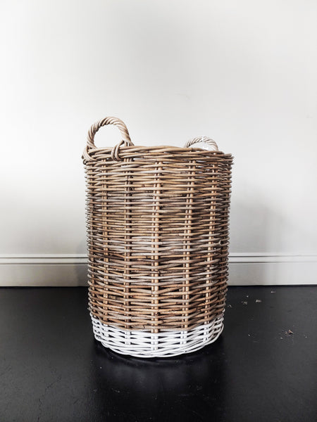 Natural Rattan Basket - Medium - Macy Carlisle