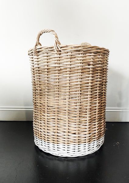 Natural Rattan Basket - Large - Macy Carlisle