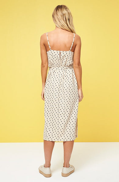 Pip Spot Button Side Slip Dress