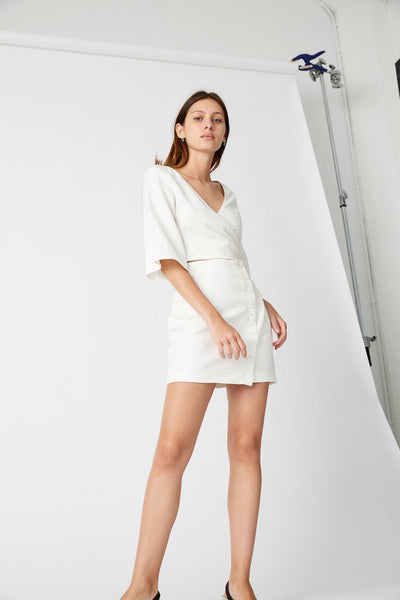 Closure Mini Wrap Dress - Macy Carlisle