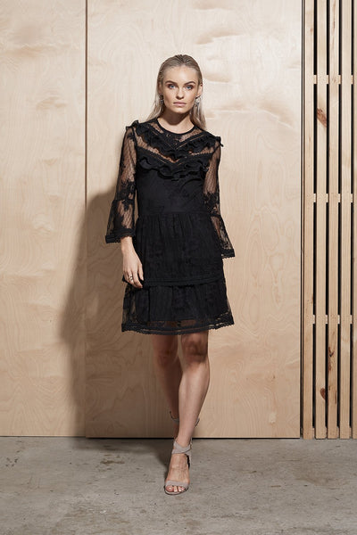 Illume Lace Trim Dress - Macy Carlisle