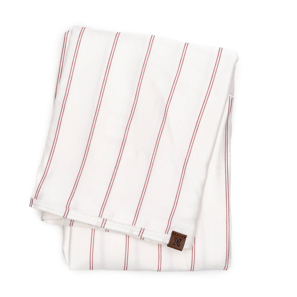 Swaddle Blanket - Rose Stripe - Macy Carlisle