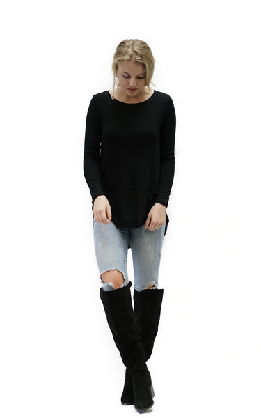 Redbridge- Long Sleeve Rib Top - Macy Carlisle