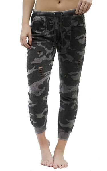 Camo Burnout Sweats - Macy Carlisle