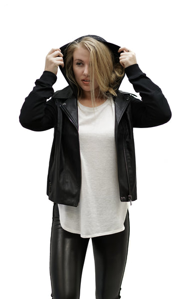 Leather Vested Jacket - Macy Carlisle
