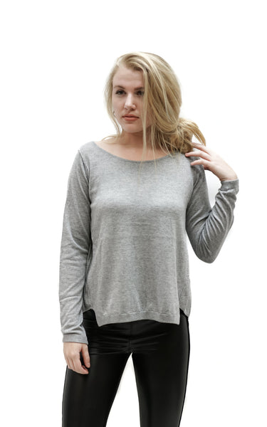 Slit Back Long Sleeve - Macy Carlisle