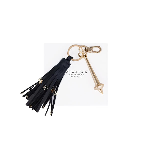 The Bowery Keychain Light Gold