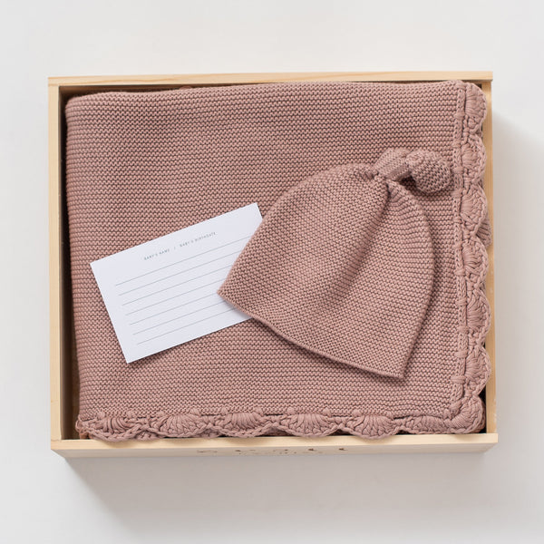 Heirloom Organic Cotton Gift Set - Berry - Macy Carlisle