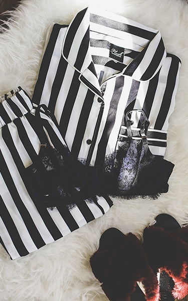 Silky Striped Pajama Set