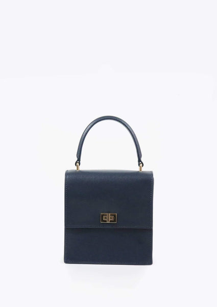 The Mini Lady Bag Saffiano - Navy