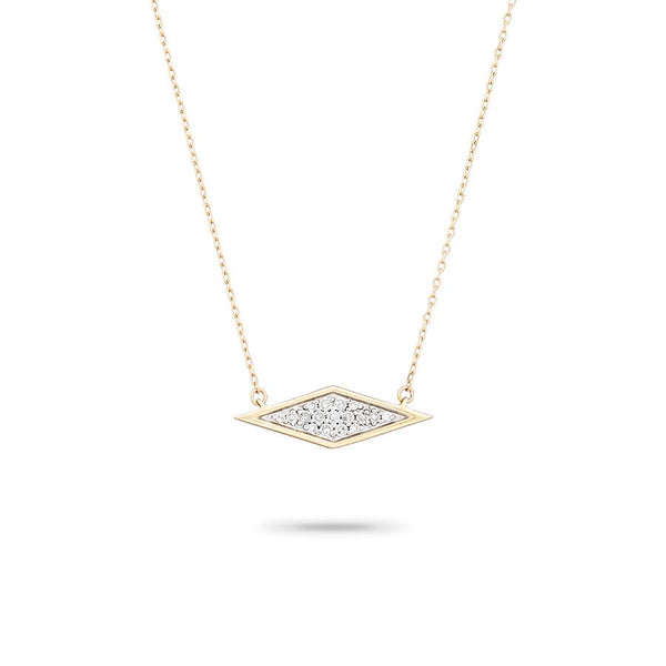 Solid Pavé Diamond Necklace - Macy Carlisle