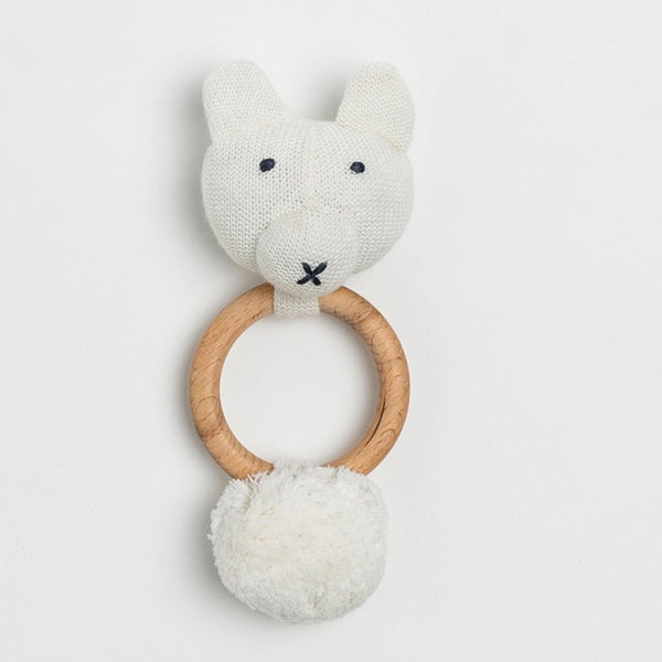 Organic Cotton Rattle - Bear - Macy Carlisle