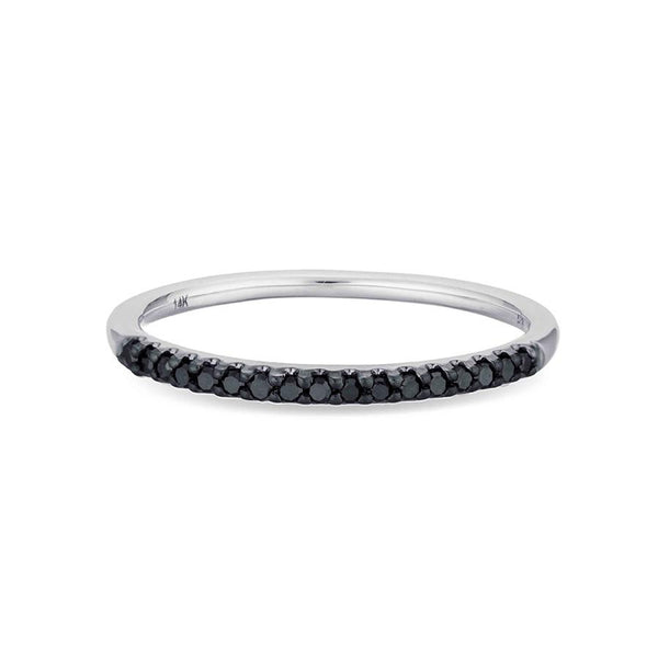 Pavé Band Ring w/ Black Diamonds - Macy Carlisle