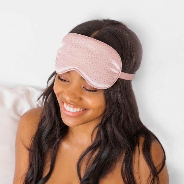 Micro Dot Satin Eye Mask