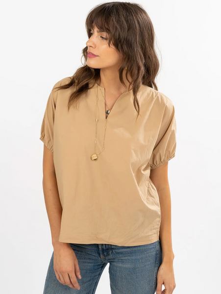 Peasant Blouse - Coffee