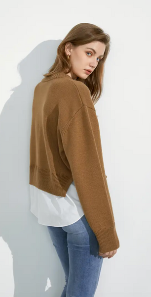 Henley Round Neck Sweater