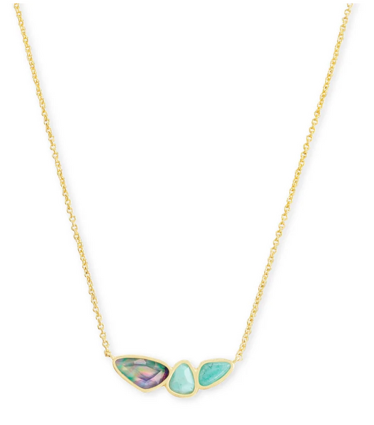 Ivy Short Necklace - Sea Green